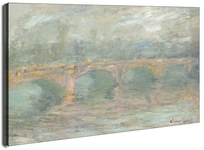 Waterloo bridge, london, at sunset, claude monet - obraz na płótnie wymiar do wyboru: 70x50 cm