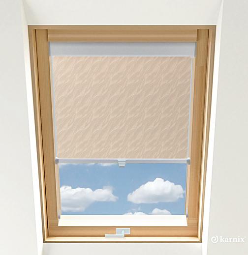 Roleta do okien dachowych - AQUA - Cream / Srebrny