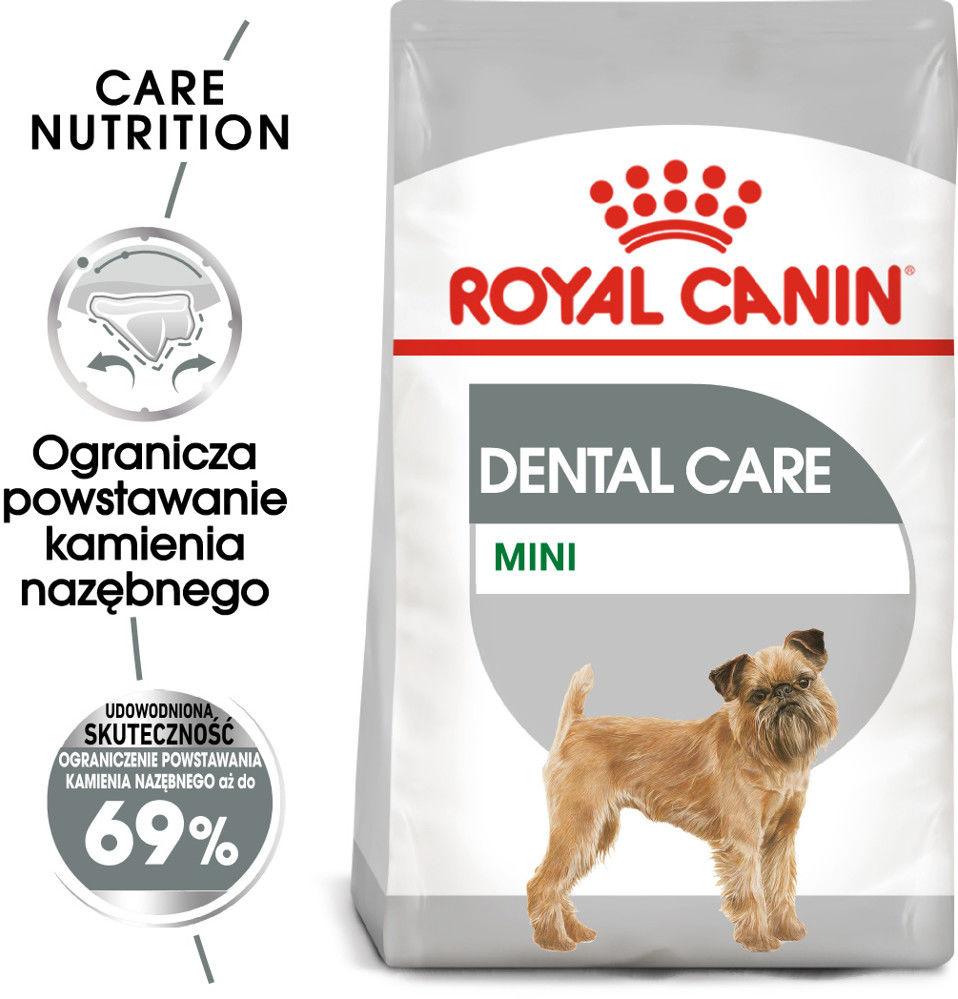 ROYAL CANIN CCN Mini Dental Care 3kg karma sucha dla psów dorosłych, ras małych, redukująca powstawanie kamienia nazębnego