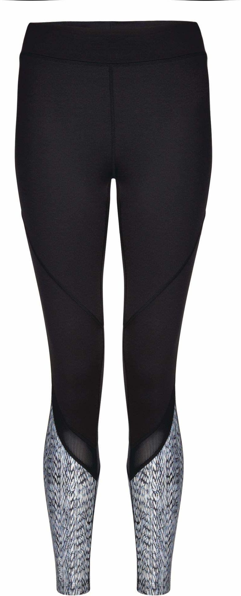 Dare 2b damskie legginsy Regenerate Tight wielokolorowa czarny/biały FR : XS (Taille Fabricant : 8)
