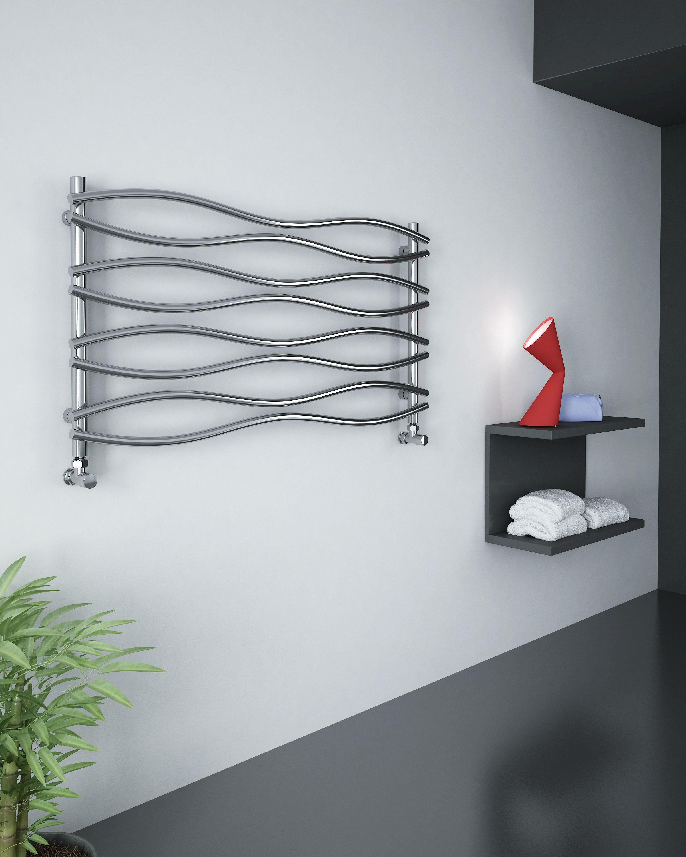 Grzejnik łazienkowy dekoracyjny WAVE - antracyt