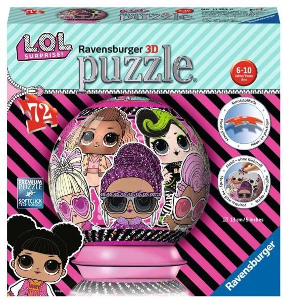 Ravensburger - Puzzle LOL Surprise kula 3D 72el. 111626