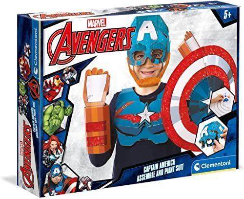 Clementoni 18610 Marvel Captain America maska dla dzieci, w wieku 4 lat plus