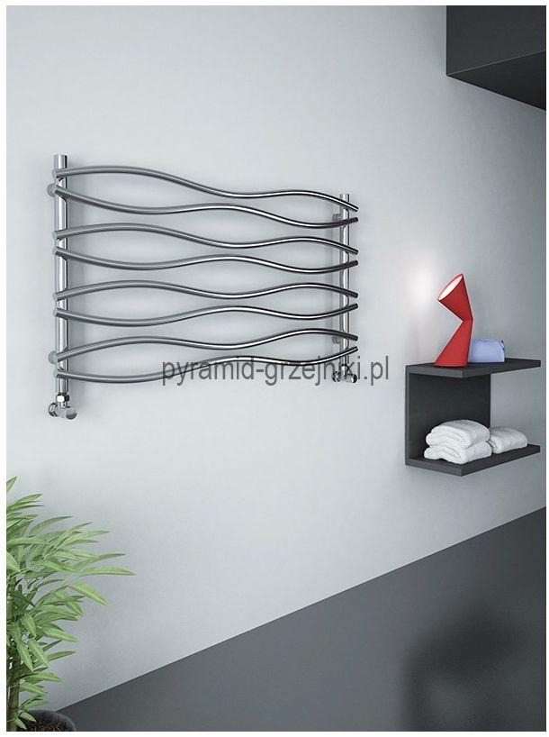Grzejnik łazienkowy dekoracyjny WAVE - chrom