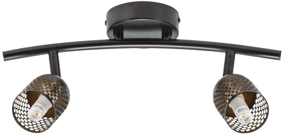 Plafon Alfred 49840103 Nordlux podwójna czarna oprawa w uniwersalnym stylu