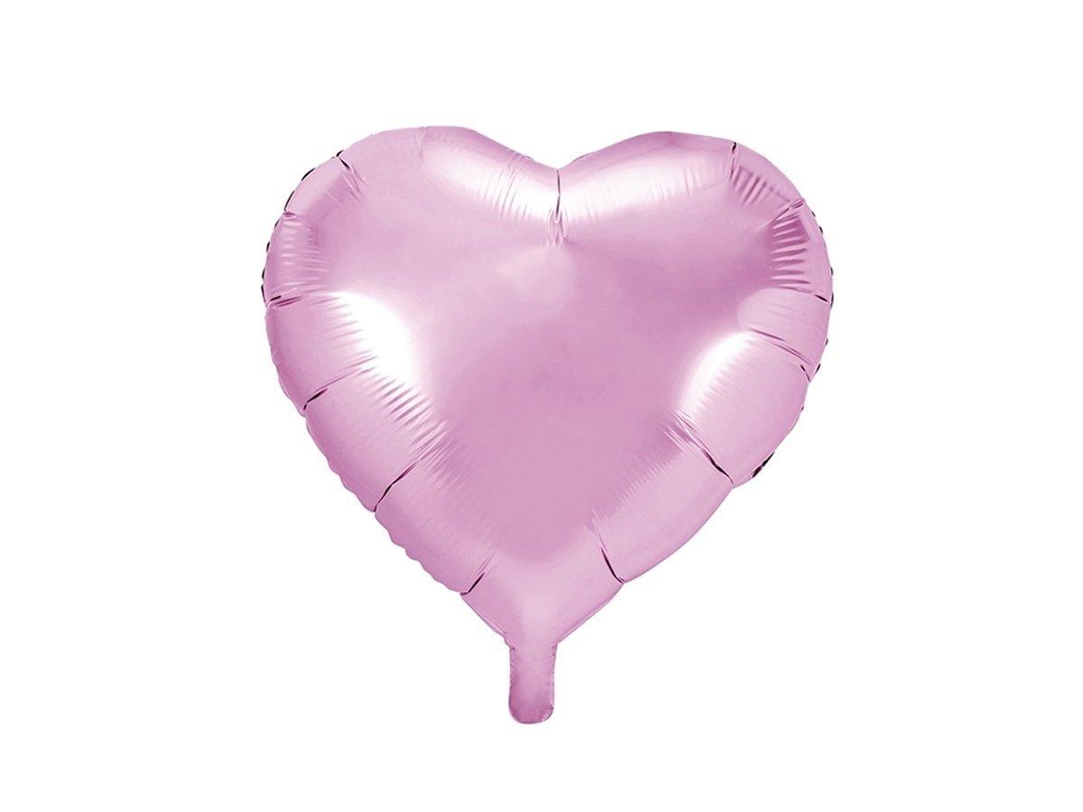 Balon foliowy Serce jasnoróżowe - 45 cm - 1 szt.