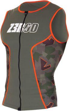 ZEROD Koszulka triathlonowa męska RACER SINGLET zielona