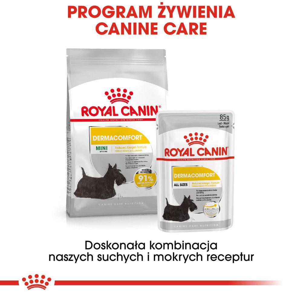 ROYAL CANIN CCN Mini Dermacomfort 1kg karma sucha dla psów dorosłych, ras małych, o wrażliwej skórze, skłonnej do podrażnień