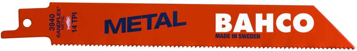 brzeszczot bagnetowy do piły szablastej, do metalu, 100mm, 18 zębów/cal, METAL Bahco [3940-100-18-ST-10P]