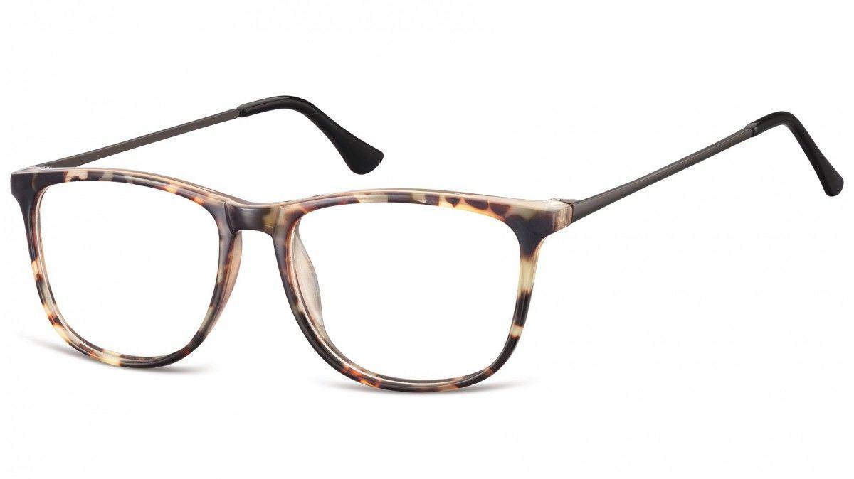 Okulary oprawki korekcyjne Nerdy zerówki Sunoptic CP142E jasny szylkret