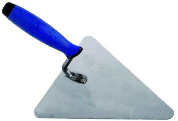 Kielnia trójkąt nierdzewna 180mm uchwyt gumowy