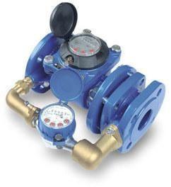 Wodomierz sprzężony, z wodomierzem bocznym i zaworem sprężynowym, typ MWN/JS,80/4-S,Q3=63, R1600, DN80, L=300mm