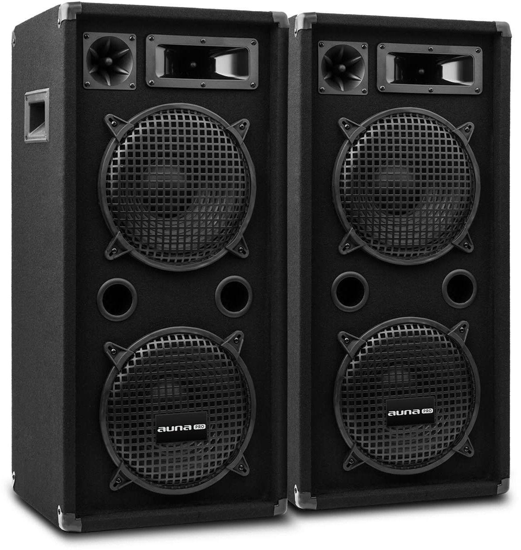 Auna Pro PW-10x22 MKII, para pasywnych kolumn nagłośnieniowych, dwa 10-calowe subwoofery, 450 W RMS
