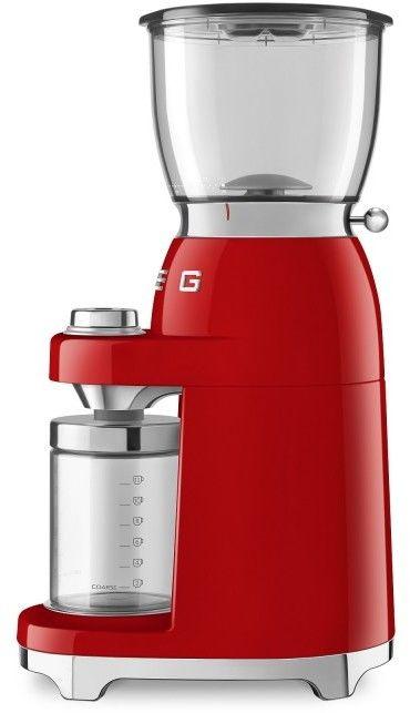 SMEG_Młynek do kawy CGF01RDEU czerwony -(22)8777777- Zadzwoń - Darmowa dostawa- Autoryzowany Partner marki SMEG