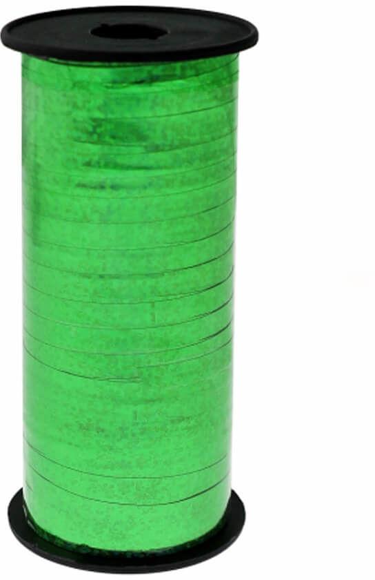 Ozdobna wstążka - holograficzna - zielona - 92 m