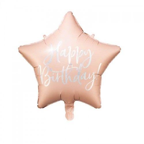 Balon foliowy Holo Urodziny, różowy