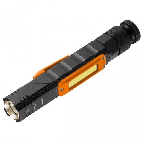 TOPEX Latarka akumulatorawa USB 300 LM 2w1 SURVIVAL