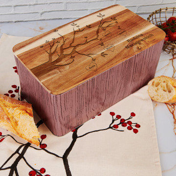 Drzewo rodzinne - Chlebak z grawerem