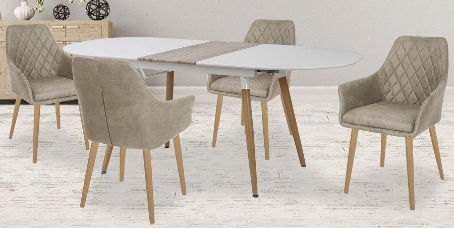 Zestaw: stół Caliber i 4 krzesła K287 - 4 kolory
