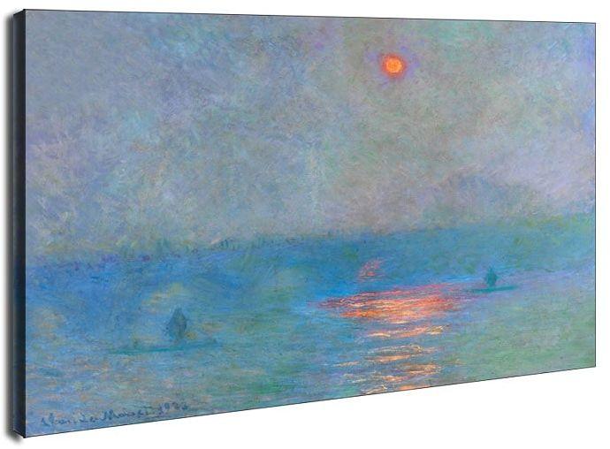 Waterloo bridge sunlight in the fog, claude monet - obraz na płótnie wymiar do wyboru: 50x40 cm