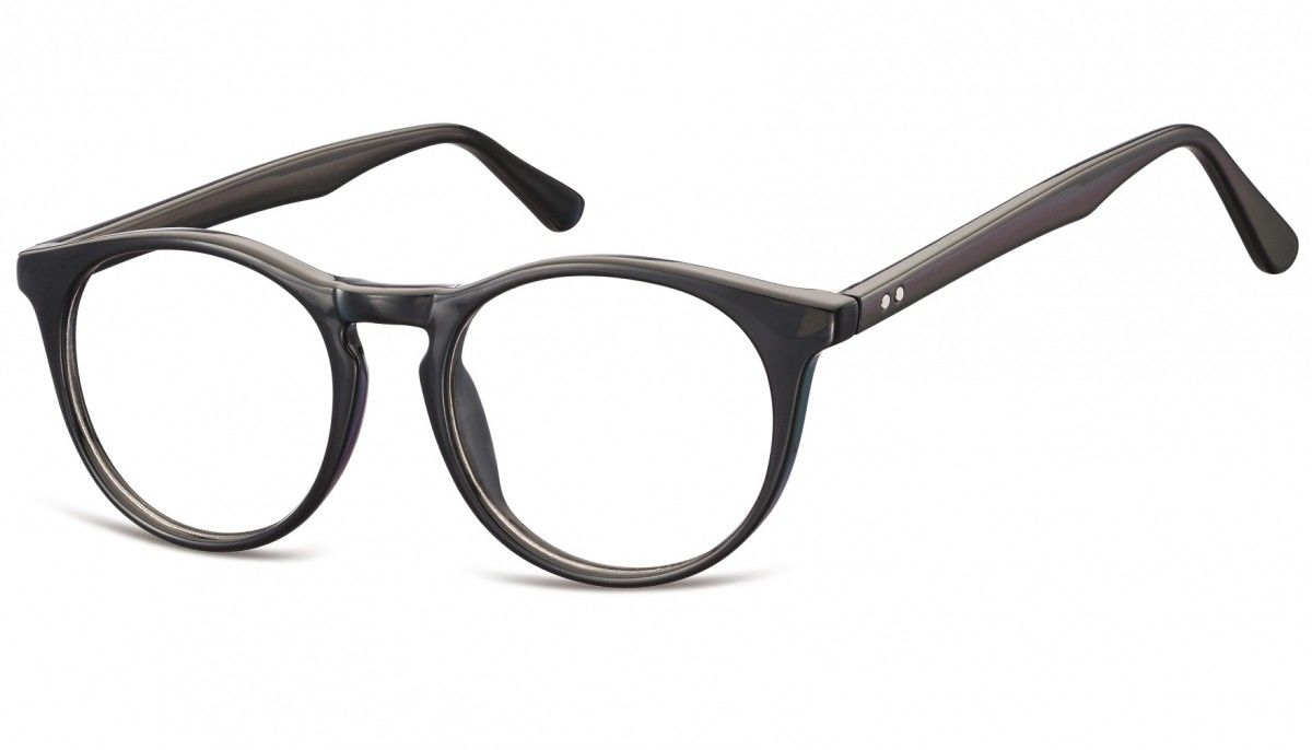 Okulary oprawki korekcyjne okrągłe Lenonki zerówki Sunoptic CP146A czarne