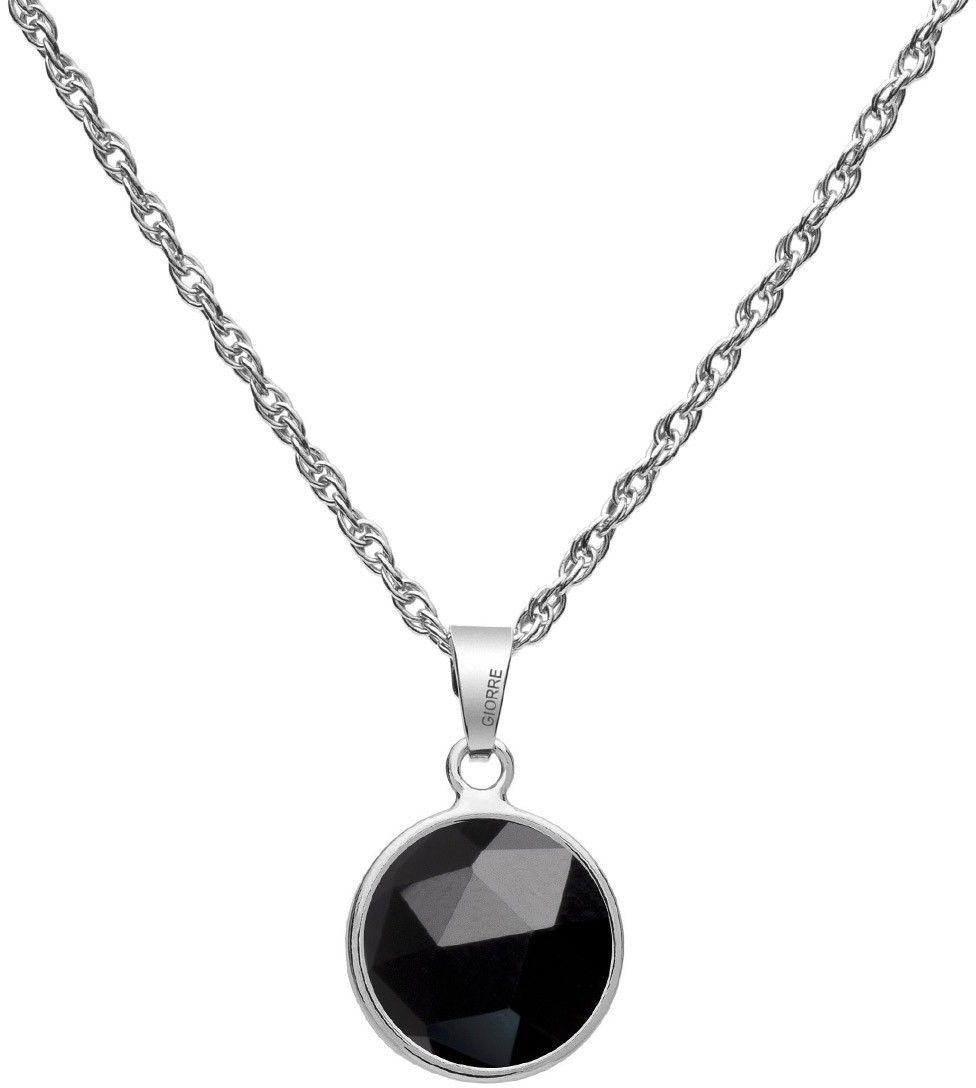 GIORRE Srebrny naszyjnik z naturalnym kamieniem Gavbari - Rose Cut, srebro 925 : Długość (cm) - 40