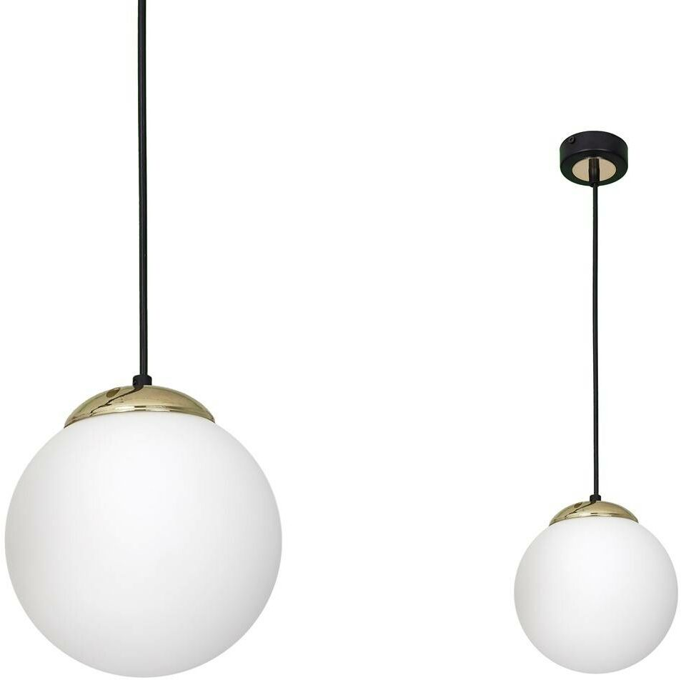 Lampa wisząca SPARTA BLACK / GOLD 1xE27