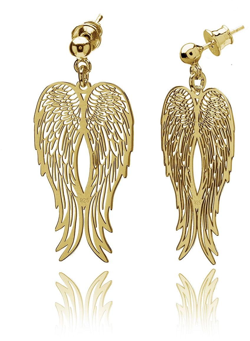 Kolczyki skrzydła ażurowe