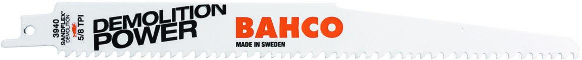brzeszczot bagnetowy do piły szablastej, do prac rozbiórkowych, 228mm, 5/8 zębów/cal, DEMOLITION POWER, Bahco [3940-228-5/8-DSL-10P]