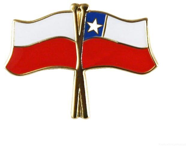 Flaga Polska-Chile - przypinka