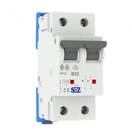 B32A 2P 10kA Wyłącznik nadprądowy bezpiecznik Typ S eska PR62 SEZ 0449