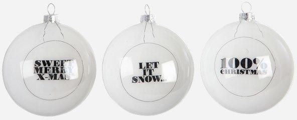 Zestaw Białych Bombek Świątecznych 6szt.