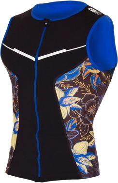 ZEROD Koszulka triathlonowa męska RACER SINGLET KONA czarno-niebieska
