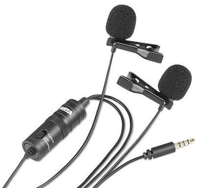 Mikrofon krawatowy podwójny BOYA BY-M1DM