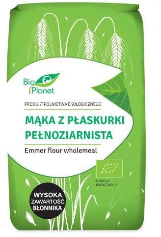 Mąka z płaskurki pełnoziarnista BIO 500 g Bio Planet