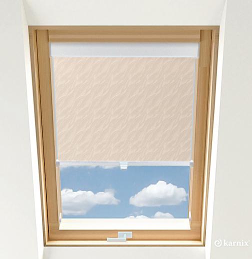 Roleta do okien dachowych BASIC AQUA - Pearl / Biały