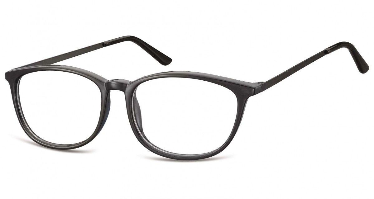 Okulary oprawki korekcyjne Nerdy zerówki Sunoptic CP143 czarne