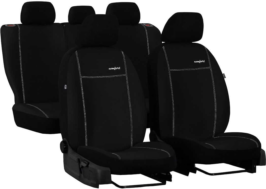 Pokrowce samochodowe do Ford Fusion van, Comfort, kolor czarny