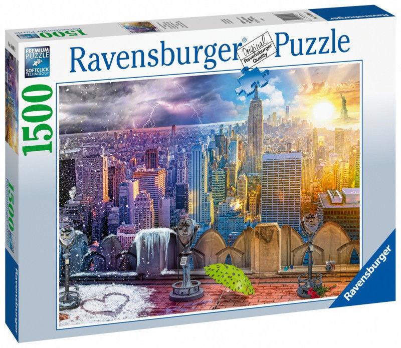 Ravensburger - Puzzle Nowy Jork w lecie i zimie 1500 el. 160082