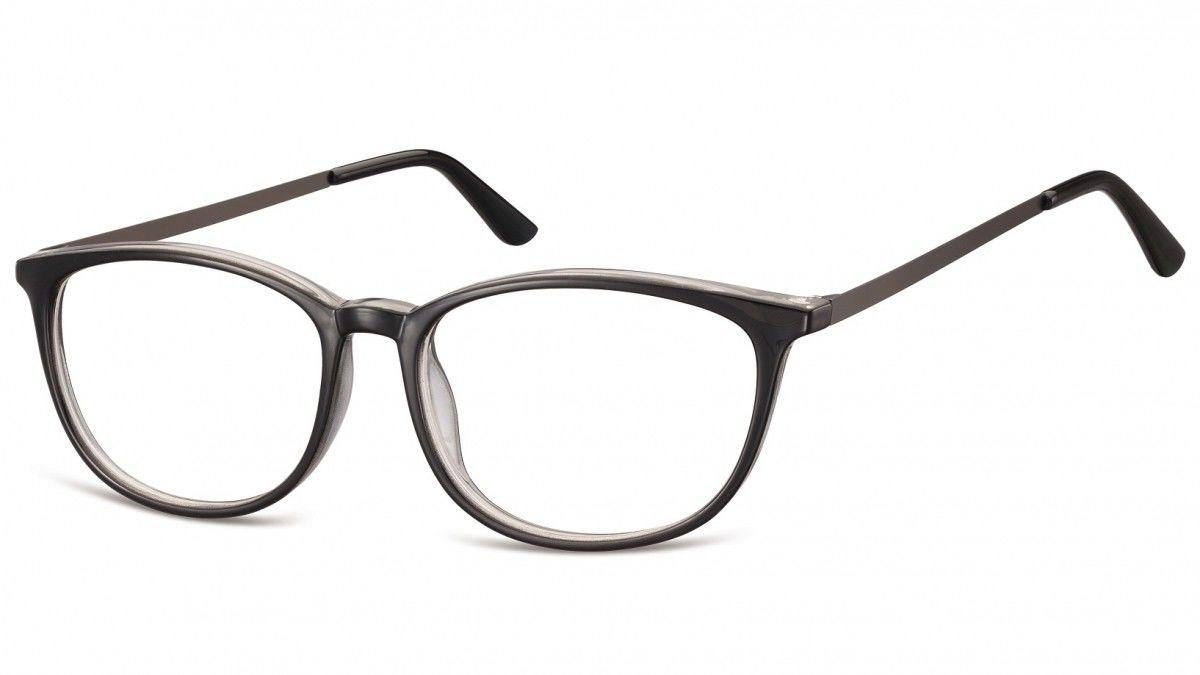 Okulary oprawki korekcyjne Nerdy zerówki Sunoptic CP143A czarny + przezroczysty