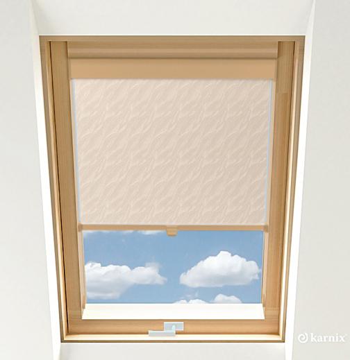 Roleta do okien dachowych BASIC AQUA - Pearl / Sosna
