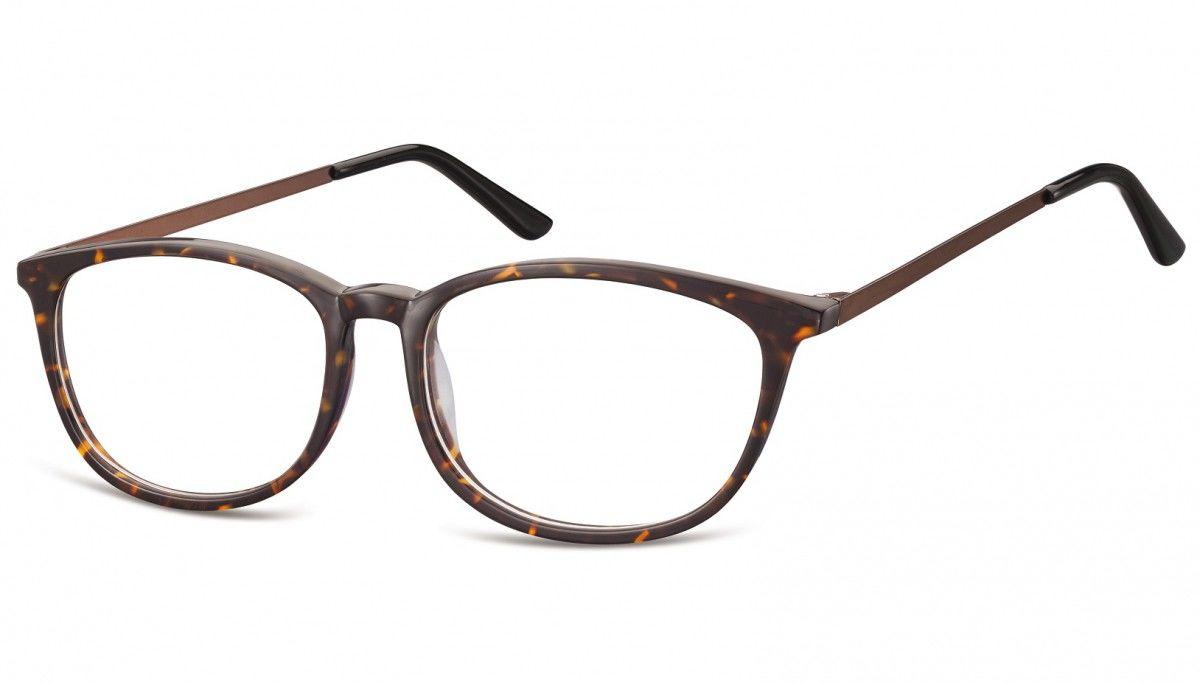 Okulary oprawki korekcyjne Nerdy zerówki Sunoptic CP143B panterka-szylkret