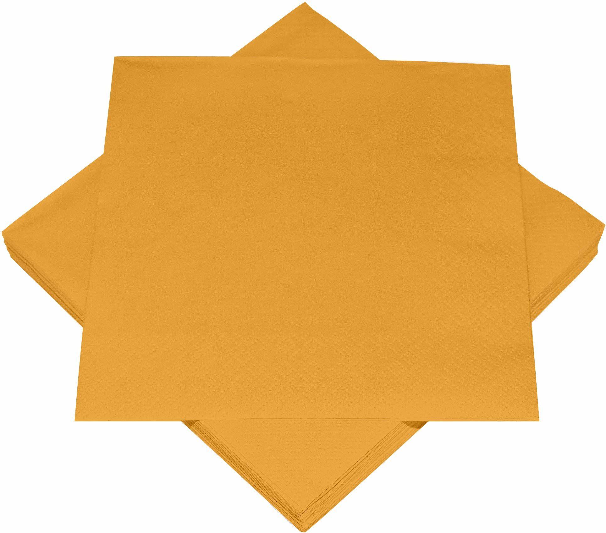Heku 30241-11: 100 serwetek jednokolorowych, 3-warstwowych, 33 x 33 cm, pomarańczowy