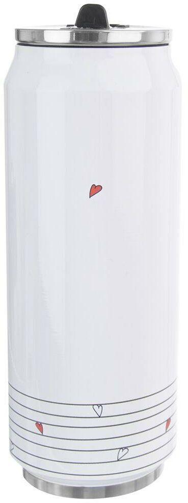 Kubek termiczny termos bidon serca serduszka PUSZKA 500 ml