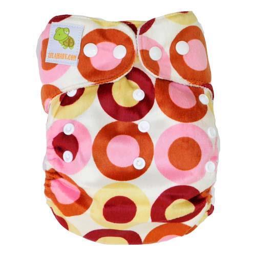pieluszka wielorazowa MINKY mix dots różowa