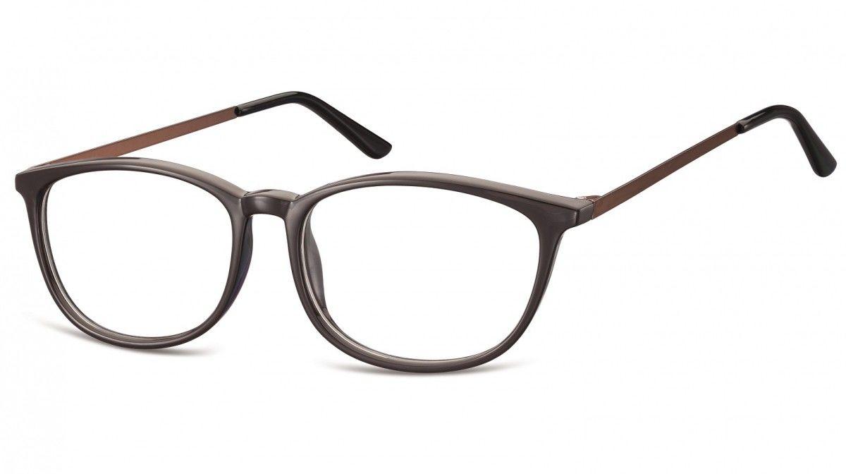 Okulary oprawki korekcyjne Nerdy zerówki Sunoptic CP143C ciemnobrązowe