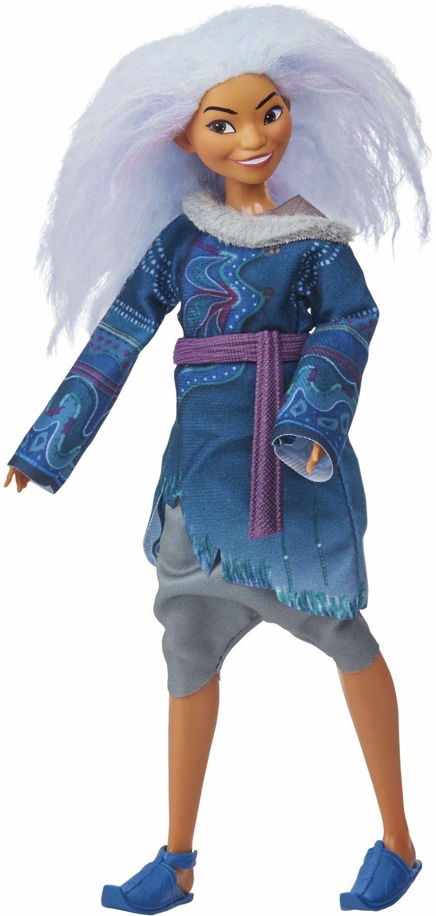 Disney Sisu jako człowiek modna lalka z włosami i ubraniem w kolorze lawendowym do Disneys Raya i ostatniego smoka, zabawka dla dzieci od 3 lat