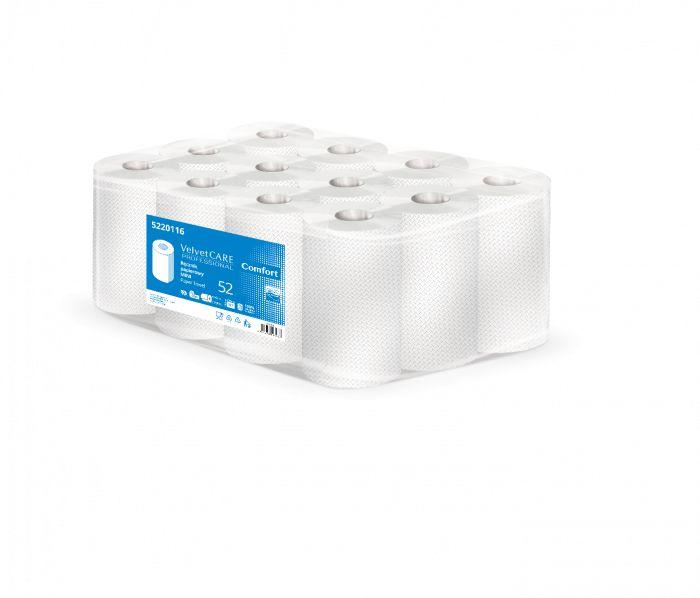Ręcznik papierowy biały w roli MINI 2w 52m VelvetCARE