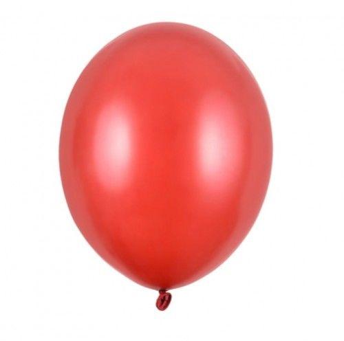 """Balon mały 5"""" czerwony, metaliczny"""