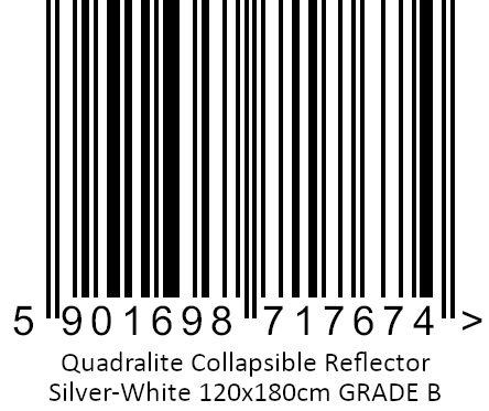 Quadralite Blenda srebrno-biała 120x180cm GATUNEK II